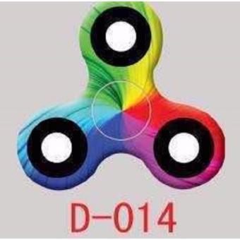 Fidget Spinner Hand Toys Mainan Tri-Spinner EDC Ceramic Ball Focus Games - Hitam +