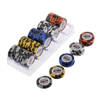 Harga FC 100Pcs 14G Clay Poker Chips For Mahjong &Amp; Texaspoker - intl