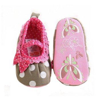 Hijau Panas Balita Bayi Sepatu Bayi Sol Lembut Slip Pada Laki-Laki Dan Perempuan Rumbai