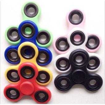 Harga ANGEL Fidget Spinner Hand Toys Mainan Tri-Spinner EDC Ceramic Ball Focus Games Penghilang stress Warna Random