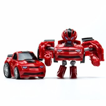 Harga Hanyu Hornets King Kong Q Version Transformed Toys King Kong Mini Ransformer Robot Transforming Car Robot Toys-Red - intl