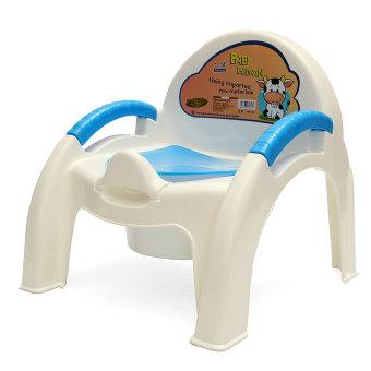 Anak bayi kursi toilet pelatihan anak balita yang dapat dilepas mudah bersih Biru - International