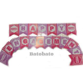 Harga Banner / Bunting Flag Happy Engagement