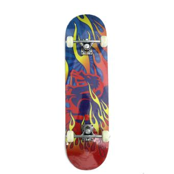 Harga Skateboard Graffiti Blue Red Fire Ultimate Series