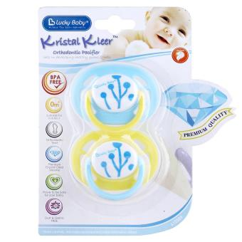 Harga Lucky Baby Kristal Kleer Orthodontic Pacifier Blue