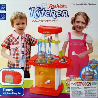Harga Mini Kitchen Set Koper Merah