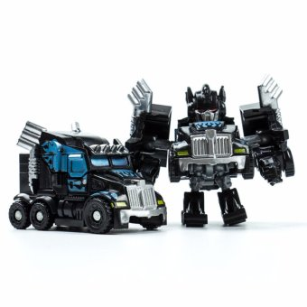 Harga Hanyu King Kong Q Version Transformed Toys King Kong Mini Ransformer Robot Transforming Car Robot Toys-Black - intl