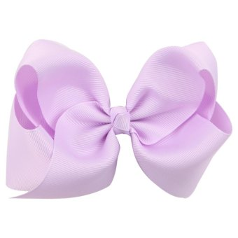 Harga Jewelry Big Hair Bow Baby Girls Solid Ribbon Hair Bows With Clip Boutique HairClip - intl