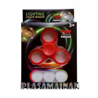 AA Toys LED Lighting Finger Spinner Merah - Spinner Hand Toys