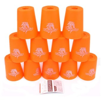 Harga YJ Speed Stacks 12 Sport Cups Magic Flying Cup Clean Version (orange)