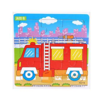 Harga Tomindo Puzzle Kayu Mini Transport - Fire Truck