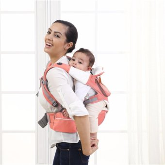 Harga Mambobaby Multifunctional 4-in-1 Baby Carrier with Hip Seat (Pink)