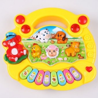 Harga Honey Bee Babyshop Music Piano Animal Farm Yellow mainan anak bayi balita