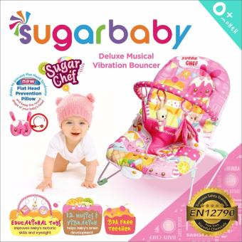 Harga Sugar Baby Sugar Chef Deluxe Musical Vibration Bouncer - Pink