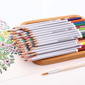 Unique Fantastic 24 Color Profesional Oil Soft Assorted Colored Pencils Homework Wooden Sharpened Drawing Writing