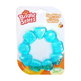 Harga Bright Starts Soothing Circle Teether – Biru