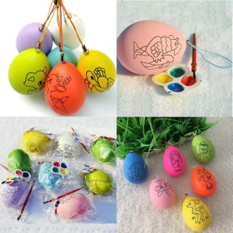 Harga Fang Fang DIY Plastic Festival Easter Egg Hand-painted Child Gifts Toys Party Home Decor - intl