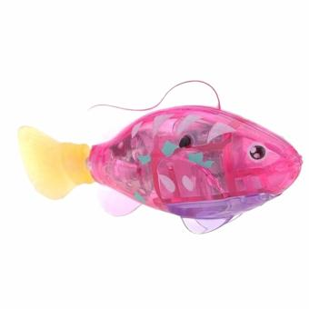 Harga Hequ Hot Sellers Adorable Kids Robo Fish Electric Pet Toy Swim Fish Childen Toy Size 8cm By 2cm By 3 5cm random color - intl