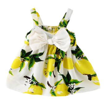 Harga Baby Girl Summer Fashion Dress (Yellow)