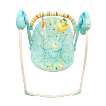 Harga Baby Elle Portable Swing Electric - Blue