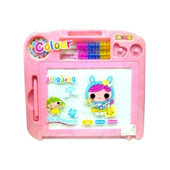 Harga MOMO Toys Drawing Board Colour Pink TK2119 - Papan Tulis Berwarna