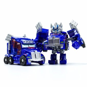 Harga Hanyu King Kong Q Version Transformed Toys King Kong Mini Ransformer Robot Transforming Car Robot Toys-Blue - intl