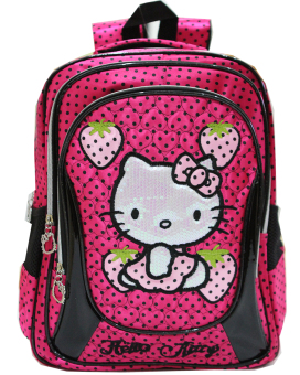 Harga Onlan Ransel Big Bag School Motif Hello Kitty Polkadot Import