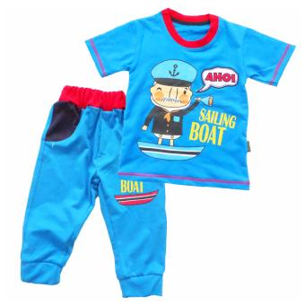 Waka Kids Baju Anak Bayi Oblong Tangan Pendek Stelan Kaos 3/4 - 1953