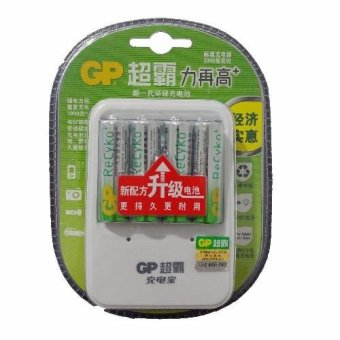 Harga GP ReCyko 2000mAh Rechargeable AA Battery AND charger kits for AA/AAA