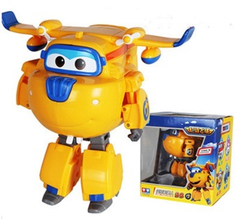 Harga Big!!!15cm Super Wings Deformation Airplane Robot Action Figures Super Wing Transformation Toys 3 - intl