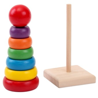 Harga MOMO Toys Wooden Rainbow Tower