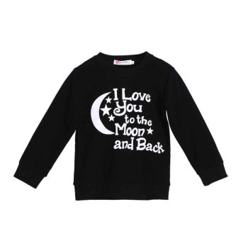 Kids Baby Boys Girls To The Moon Printed Long Sleeve Sweater Tops Clothes(B) - intl