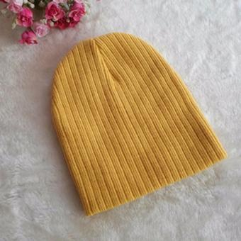 Harga Jiayiqi Girls & Boys Knit Baby Hats Beanie Candy Color Toddler Children Hat - intl