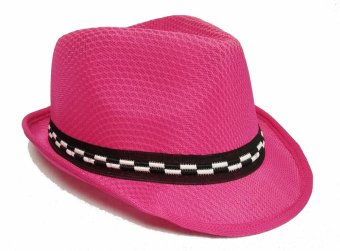 Harga D & D Collection Fedora Hat For Kids / Topi Fedora Jazz Anak Unisex (Pink tua)