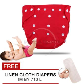 Harga Cloth diaper / Cloth diapers / Clodi Popok Kain Bayi BY 72 / Pampers Kain RED + FREE INSERT