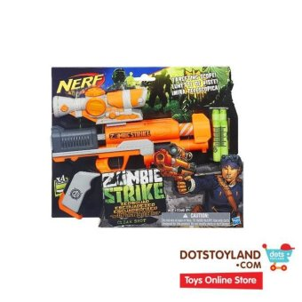 Harga Nerf Zombie Strike ZED Squad Clear Shot Blaster - Orange