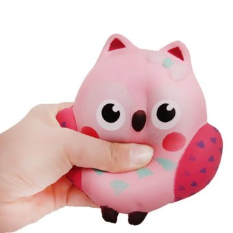 Slow Rising Squishy Slice Kawaii Squishy Owl Toy Cream Scented Slow Rising Hand Wrist Toy Random