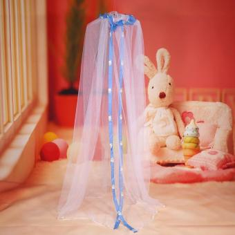 Harga Cute Hanging Round Dome Bed Canopy Netting Baby Kids Crib Mosquito Net Curtain Home (Blue) - intl