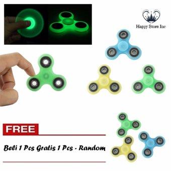 Happy GLOW IN THE DARK Fidget Spinner Hand Spinner Hand Toys Focus Games / Mainan Spinner