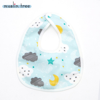 Harga [100% COTTON]Baby BIBs napkin slobber 6 layers of cotton