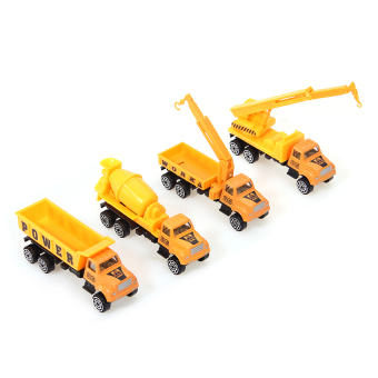 Harga Zhouda 1:64 Mini Model Alloy Crane Dumper Trucks Armored Cars Gift Toys4-piece Set - intl