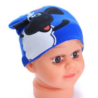 Lucu bayi anak balita anak bayi perempuan katun topi hangat lembut kupluk bayi biru - Internasional
