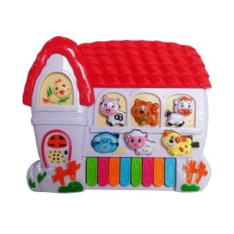 Toylogy Mainan Anak Mainan Alat Musik Piano - Farms Animal Word - (Multicolor)