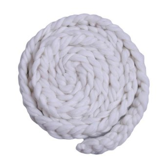 Harga LALANG Newborn Photography Props Baby Photo Braid Blanket Crochet Knitted Costume (White)