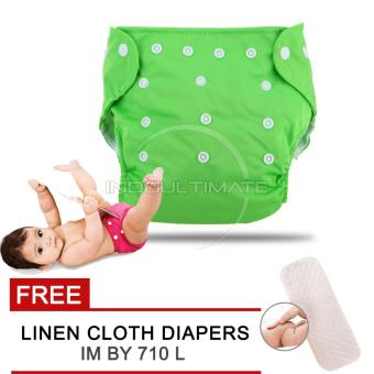 Harga Cloth diaper / Cloth diapers / Clodi Popok Kain Bayi BY 72 / Pampers Kain GREEN + FREE INSERT