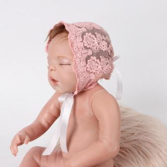 Harga 0-6M Newborn Baby Lace Floral Hat(Pink)