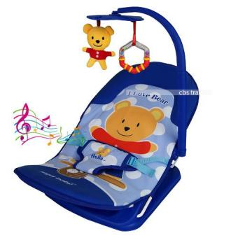 Harga Sugar Baby 1st Class Bouncer / Fold Up Infant Seat with Melodies And Soothing Vibrations -- Kursi Lipat Bayi - I Love Bear