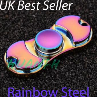 Harga New Fidget Finger Spinner Rainbow Steel - UK Best seller