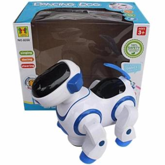 AA Toys Dancing Dog BO 8200 Biru - Mainan Dancing Dog Robot BO