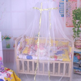 Harga Summer Baby Infant Mosquito Net Toddler Bed Crib Canopy Netting White Babe Dome - Intl
